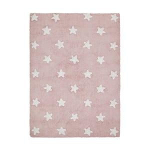 Růžový bavlněný ručně vyráběný koberec Lorena Canals Stars, 120x160cm