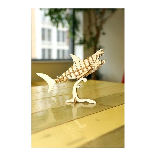 3D puzzle z balzového dřeva Kikkerland Shark