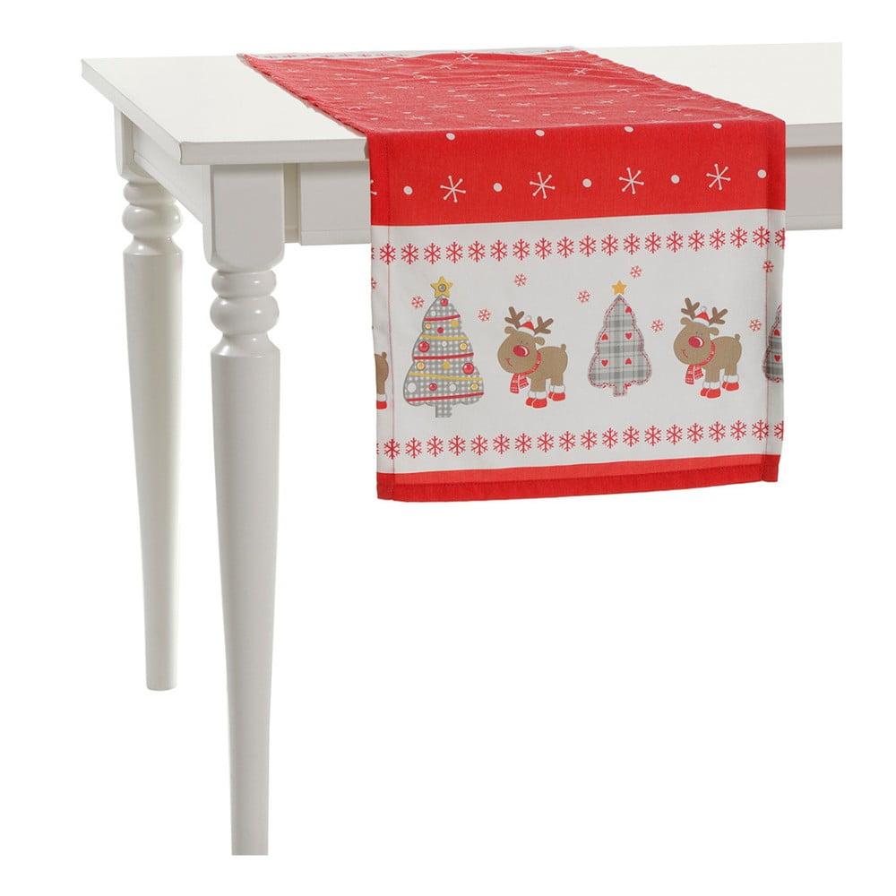 Vánoční běhoun na stůl Apolena Shine Christmas, 140x40cm