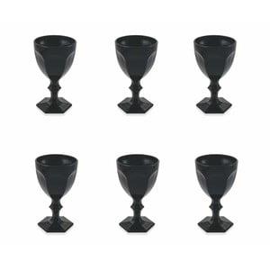 Sada 6 černých sklenic Villa d'Este Wonderland, 170 ml