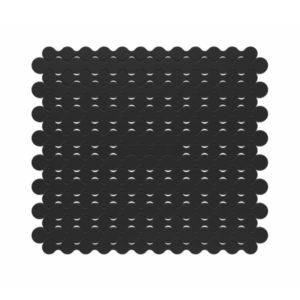 Czarna kratka do zlewu Kela Rincer, 28x25 cm