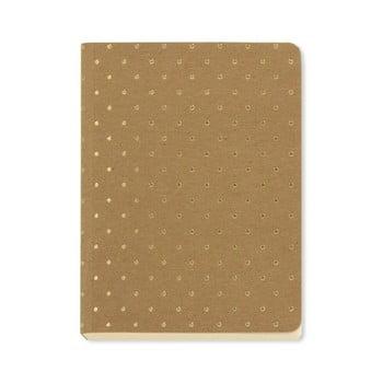 Agendă A6 Go Stationery Gold Polka Kraft