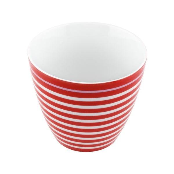 Porcelánový šálek Lines S, červený 4 ks