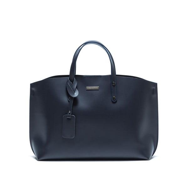 Tmavě modrá kožená kabelka Luisa Vannini Lissato