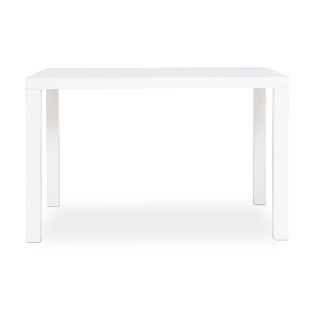 Lesklý bílý jídelní stůl Intertrade Primo, 80 x 120 cm