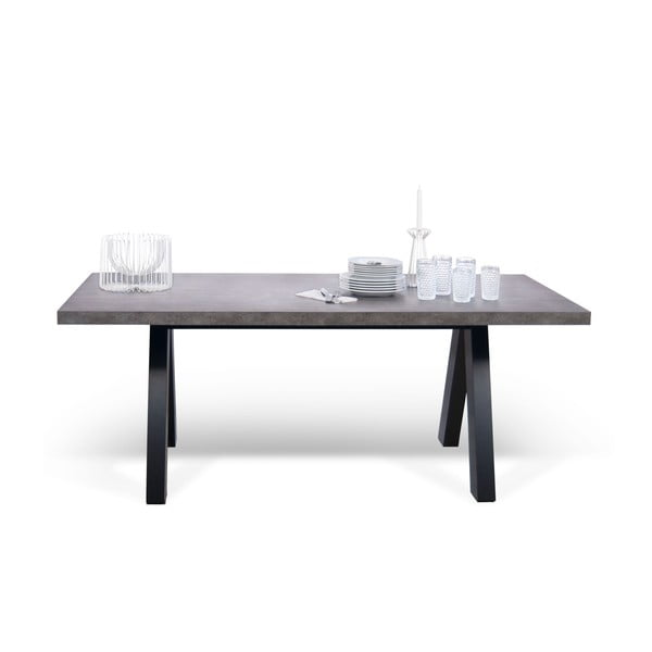 Šedý jídelní stůl TemaHome Apex