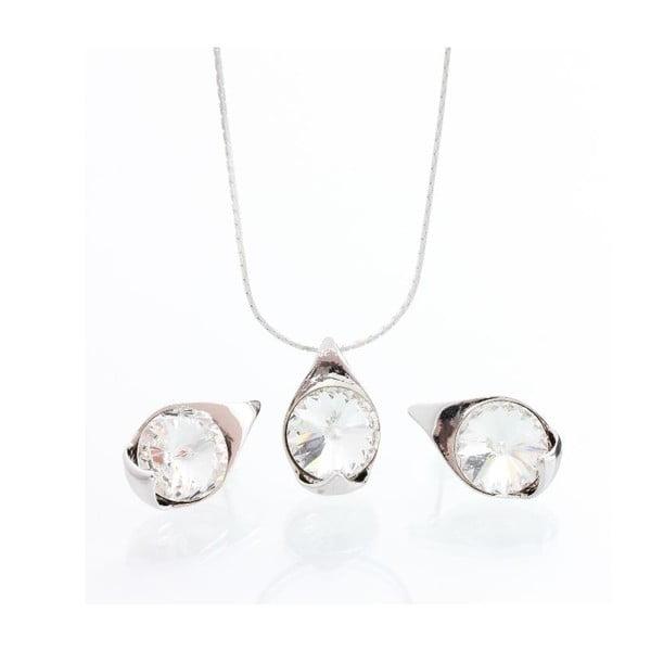 Set náhrdelníku a náušnic Laura Bruni Crystal