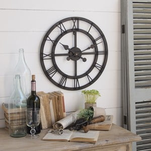 Nástěnné hodiny Industrial Rusty Black, 50 cm