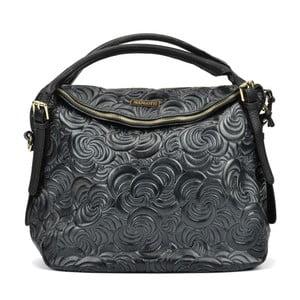 Černá kožená kabelka Mangotti Hurmenna