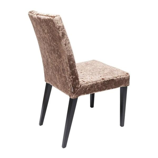 Sada 2 hnědých jídelních židlí s nožičkami z bukového dřeva Kare Design Mara