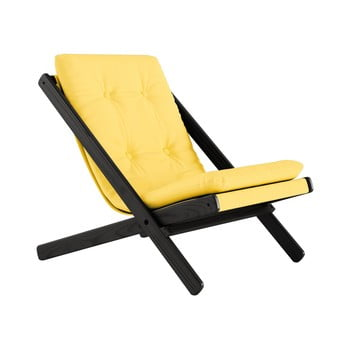 Fotoliu pliant Karup Design Boogie Black/Yellow