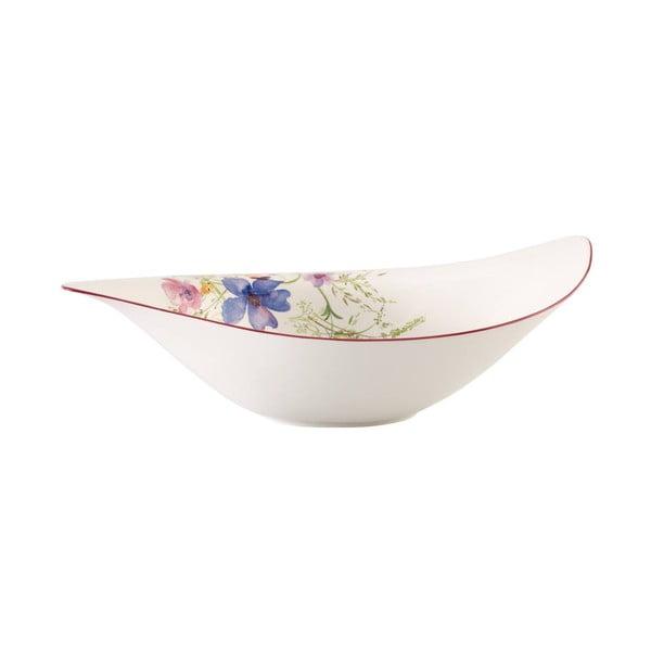 Biela porcelánová šalátová misa s motívom kvetín Villeroy & Boch Mariefleur Serve, 3,8 l