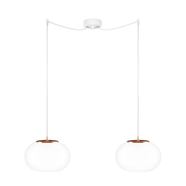 Bíloměděné dvojité závěsné svítidlo Sotto Luce Dosei