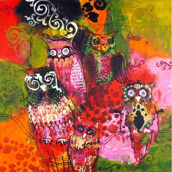 Freja Red Owl, 100x100 cm