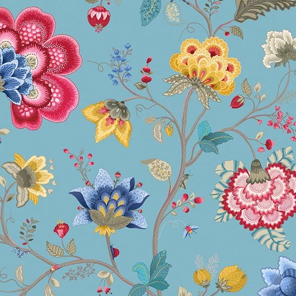Tapeta Pip Studio Floral Fantasy, 0,52x10 m, světle modrá