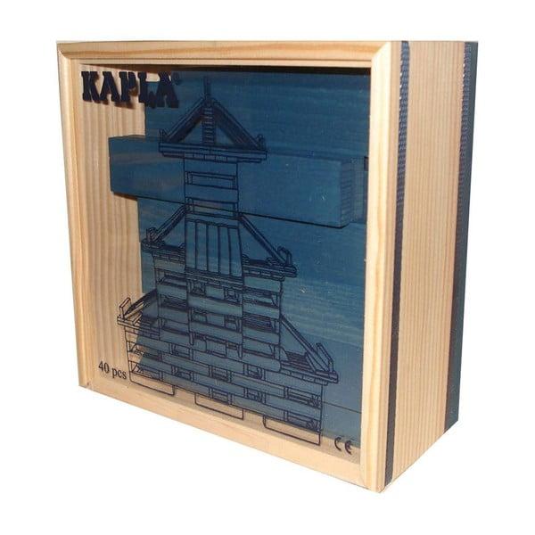 Dřevěná stavebnice Kapla, tmavě modrá