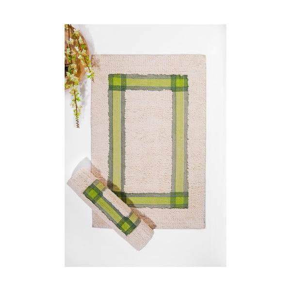 Set koupelnových předložek I, Cream Green