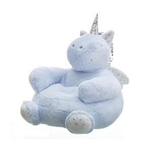 Modrý puf ve tvaru jednorožce Unimasa Unicorn