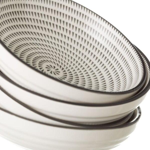 Šedobílá porcelánová miska Unimasa Signal, průměr12,6cm