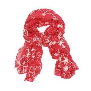 Šátek Blossom Scarf Lipstick Red