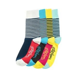 Sada 4 párů ponožek Funky Steps Bak, univerzální velikost