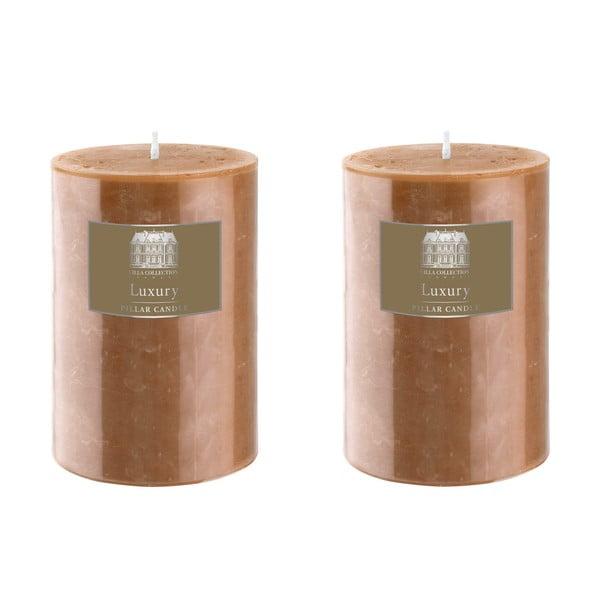 Set dvou svíček 10 cm, karamel, 48 hodin hoření