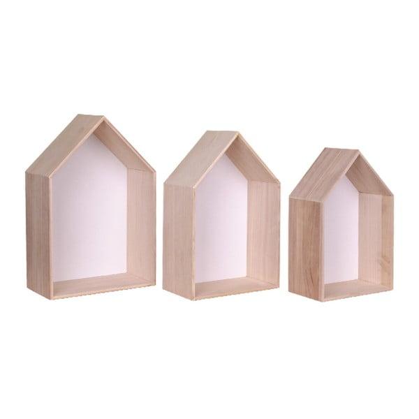Verona 3 db-os fehér fapolc szett - House Nordic