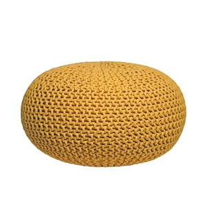 Pouf tricotat LABEL51 Knitted XL, galben