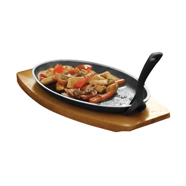 Set tocător de lemn și platou pentru aperitiv cald Premier Housewares Sizzler