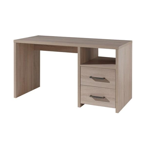 Brązowe biurko Vipack Aline, dł. 66 cm