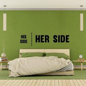 Samolepka na stěnu His Side Her Side