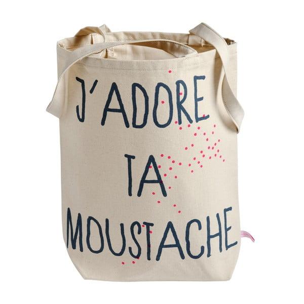 Plátěná taška Moustache
