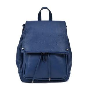 Modrý kožený dámský batoh Roberta M Mussie