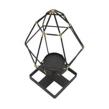 Sfeșnic din fier Mauro Ferretti Piramid, negru imagine