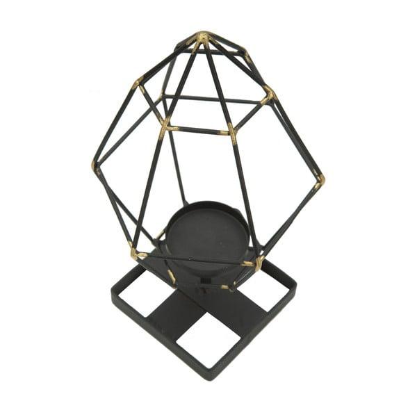 Sfeșnic din fier Mauro Ferretti Piramid, negru