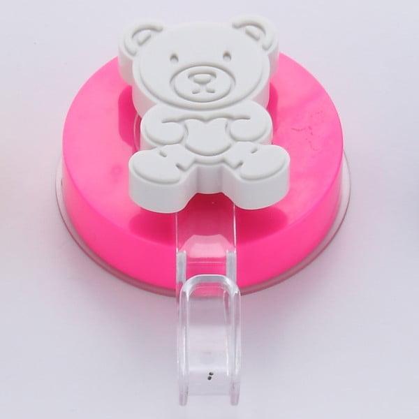 Cârlig cu montare fără găurire ZOSO Bear Pink