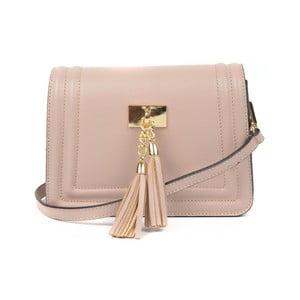Pudrově růžová kožená kabelka Luisa Vannini Calvina