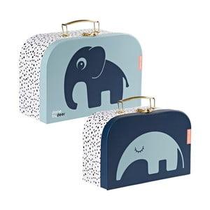 Sada 2 modrých kufříků Done by Deer Safar