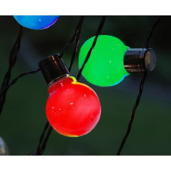 Světelný LED řetěz vhodný do exteriéru Best Season Colour Party, 16 světýlek