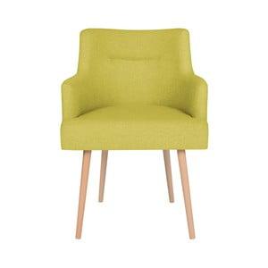 Žlutá jídelní židle Cosmopolitan Design Venice