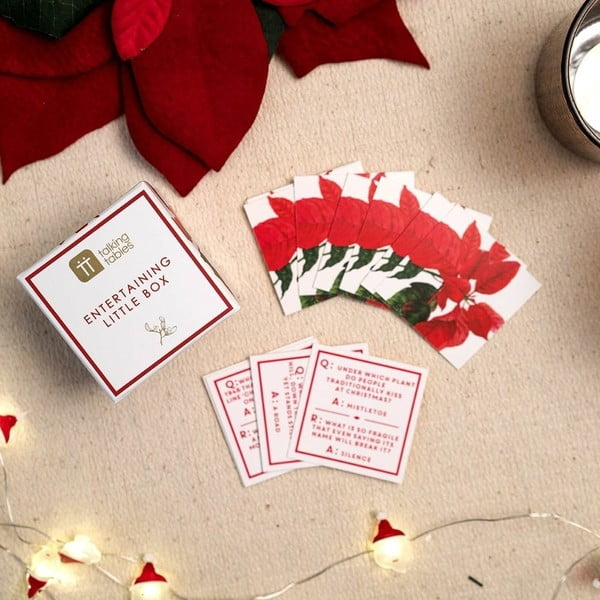 Sada vánočních hracích kartiček Trivia Box Talking Tables