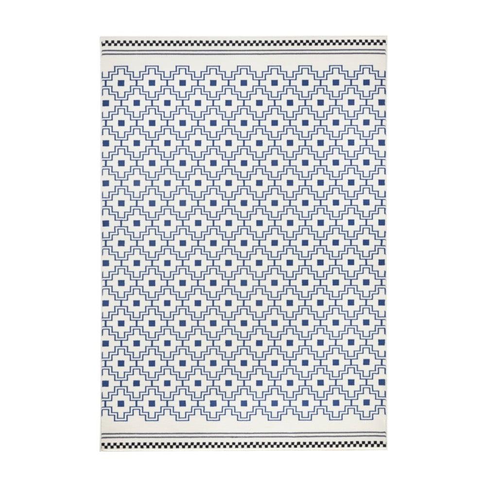 Modro-bílý koberec Zala Living Capri, 200 x 290 cm