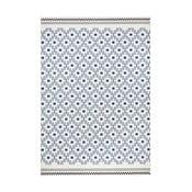 Modrobílý koberec Hanse HomeCubic, 70x140cm