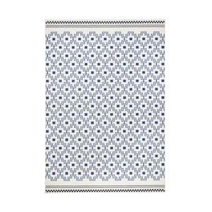 Modrobílý koberec Zala LivingCubic, 140x200cm
