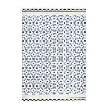Covor Zala Living Cubic, 140 x 200 cm,albastru-alb