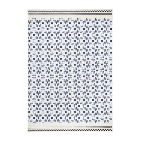 Modro-biely koberec Zala Living Cubic, 70×140cm