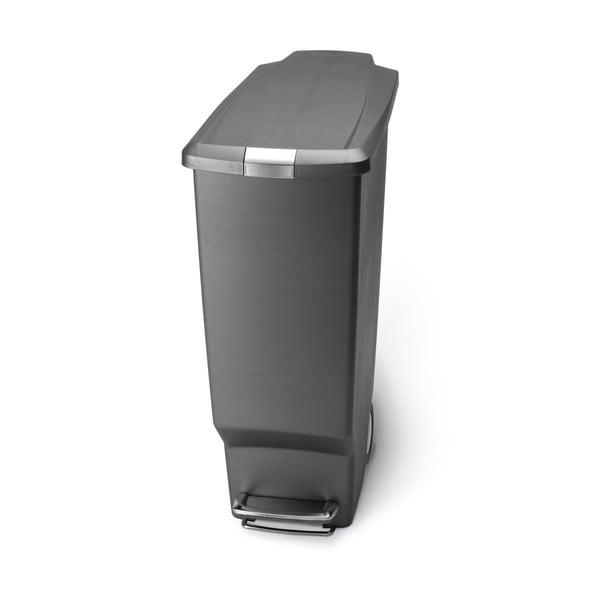 Šedý pedálový koš na odpadky simplehuman Sisi, 40 l