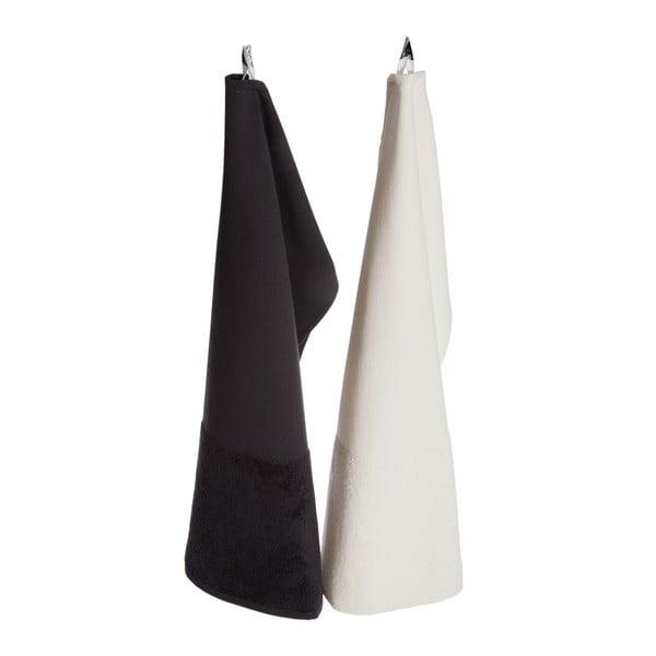 Krémový bavlněný ručník Iris Hantverk, 70x45cm