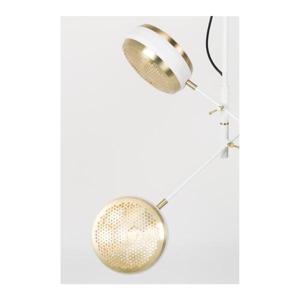 Stropní svítidlo v mosazné barvě s bílými detaily Zuiver Gringo Pendant