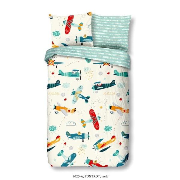 Detské bavlnené obliečky Good Morning Airplane, 140×200 cm